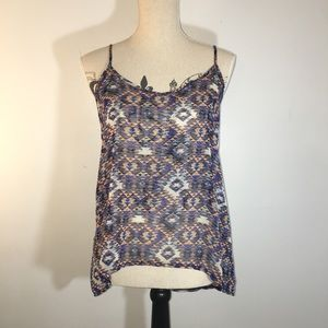 One Clothing Aztec Print Tank Top Size Small
